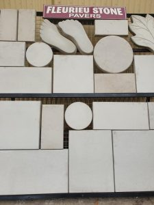 Wide variety of shapes and sizes in pavers